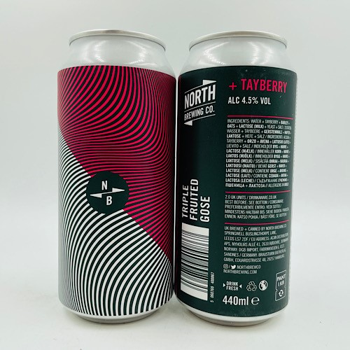 North Brewing Co: Triple Fruited Gose Tayberry Sour (440ml)