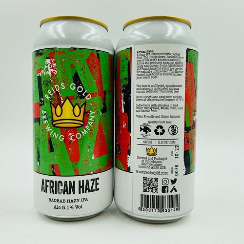 Reids Gold: African Haze Hazy IPA (440ml)